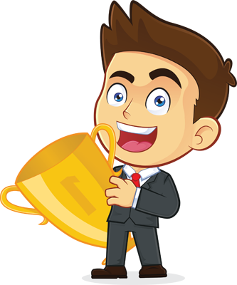 Businessman with Trophy