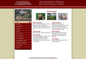 College of Charleston Environmental Studies Minor
