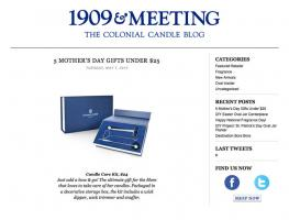 1909 and Meeting Blog