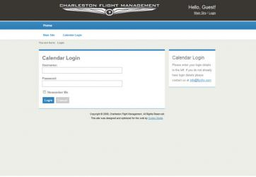 Charleston Flight Management Calendar
